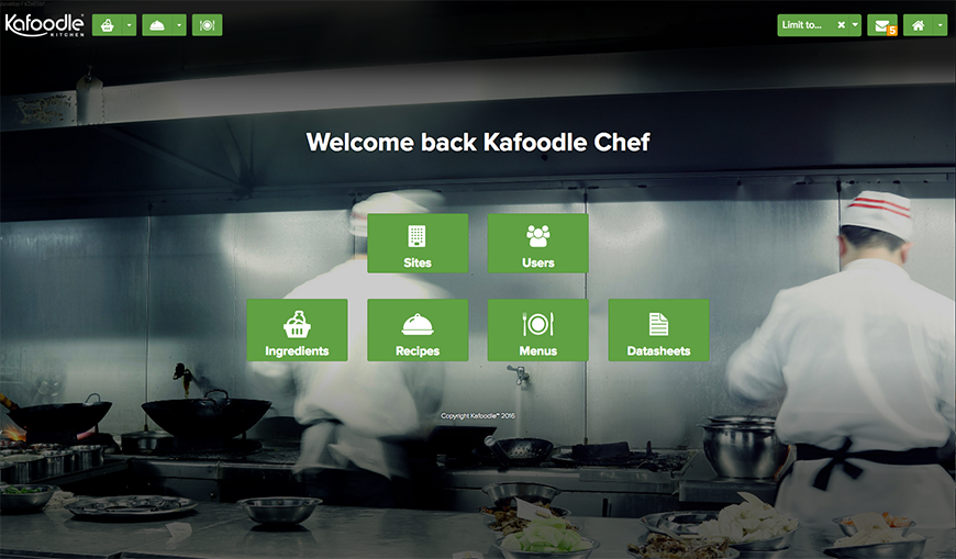 Home screen - Kafoodle Kitchen